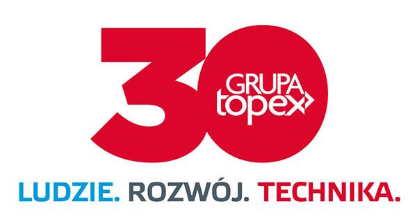 Logotyp 30 lecie Grupy Topex